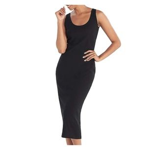 Ribbed Midi Sleeveless Bodycon Dress